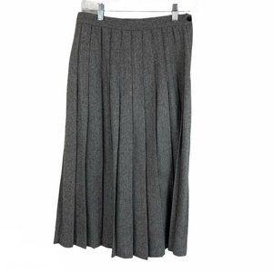 Vintage Norton McNaughton Wool Pleated Midi Skirt